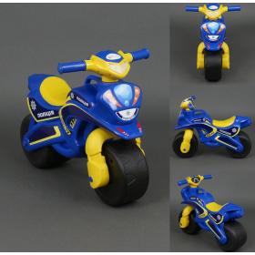 Байк поліція синій корпус, жовте сидіння