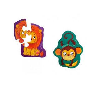 Магнітні бебі пазли 'Левеня та мавпочка' VT3208-11 (укр)