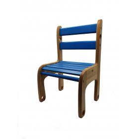Стільчик дерев'яний 'Вудік-колор' Синій  (1 ростова група)