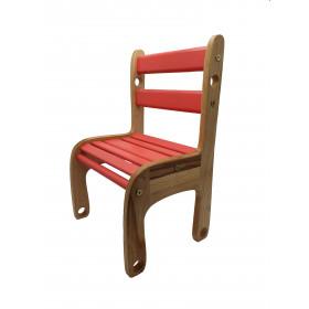 Стільчик дерев'яний 'Вудік-колор' Червоний  (1 ростова група)