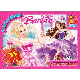 Пазли ТМ 'G-Toys' із серії 'Barbie', 35 елементів
