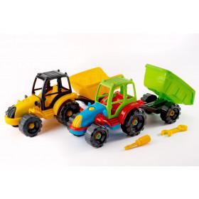 Розвиваючий– конструктор «Трактор с причепом» 30.007
