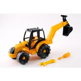 Розвиваючий– конструктор «Трактор-екскаватор» 30.008