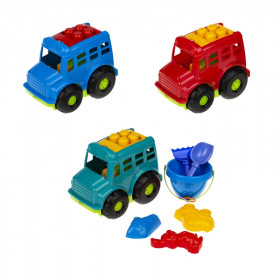 Автобус 'Бусик' №3 (автобус, ведёрко, лоп. и граб. ЛГ3, три пас. П3), сетка п/м