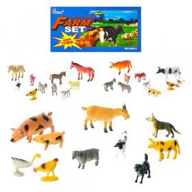 Тварини Н641-1-3 (192шт) домашние, 3 вида, 10шт в кульке, 20-15-3см