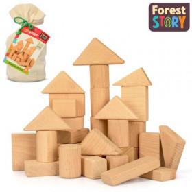 Кубики гео фігури мішок 50-70 елементів орієнтовна вага  1.5 кг  (15  шт ящ.)