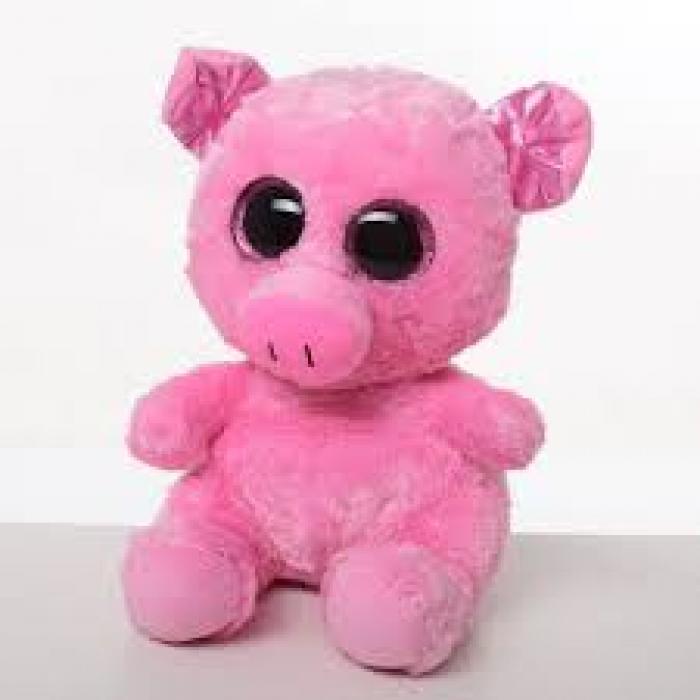 М'яка іграшка (36шт) свинка, розмір середній, 20см